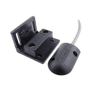 Mini Sensor Magnético para Porta de Aço Preto