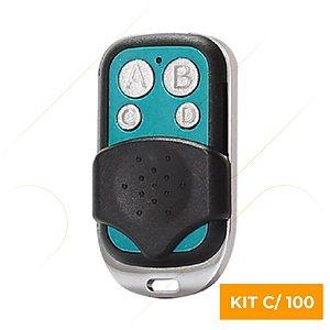 Kit C/ 100 Controle Remoto Copiador Cromado