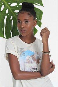 Camiseta Feminina Gola Olímpica - Ecologic Soul - Fio de Algodão Agroecológico