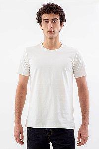 Camiseta Básica Masculina Gola Olímpica Malha Fio Algodão Orgânico Champagne