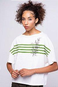 Camiseta Feminina Alecrim Fio Algodão Orgânico