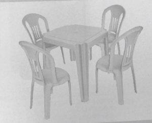 Kit mesa e cadeira