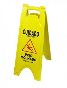 P5 - PLACA SINALIZADORA PISO MOLHADO CAIXA COM 6 UNID