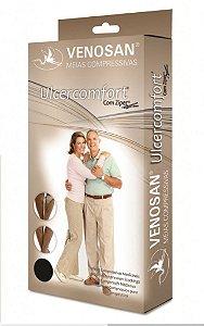 Meias Venosan Ulcercomfort Panturrilha 30-45mmHg Longa Branco e Bege