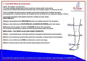 Meias JOBST® Ultrasheer 30-40 mmHg Panturrilha Mel