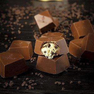 Bombom de Chocolate Belga Cookie and Cream Zero Açúcar - Luckau 20g