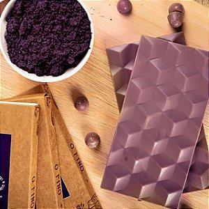 Chocolate 36% Milk Branco Com Açaí - Luzz Cacau 75g