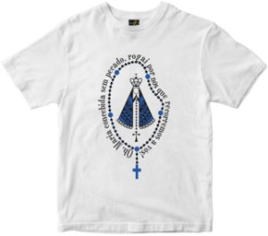 LANÇAMENTO Camiseta Nossa Senhora Aparecida Concebida sem Pecado Rainha do Brasil