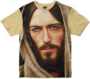 Camiseta Face de Cristo colorida Rainha do Brasil