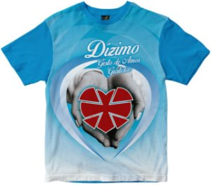 Camiseta Dízimo gesto de amor azul Rainha do Brasil