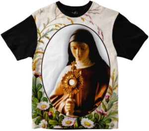 Camiseta Santa Clara de Assis Rainha do Brasil