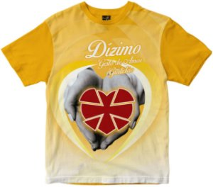 Camiseta Dízimo gesto de amor amarela Rainha do Brasil