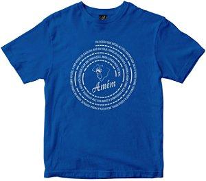 Camiseta Oração Pai Nosso azul Rainha do Brasil