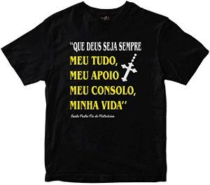 Camiseta Deus Seja Sempre meu tudo preta Rainha do Brasil