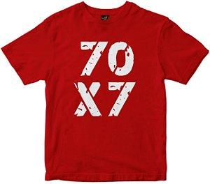 Camiseta 70x7 Rainha do Brasil vermelha Rainha do Brasil
