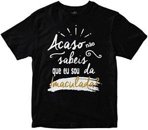 Camiseta Acaso Não Sabeis preta Rainha do Brasil