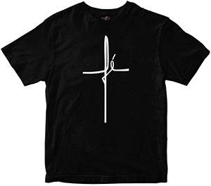 Camiseta Fé preta Rainha do Brasil