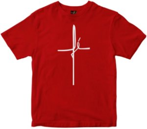 Camiseta Fé vermelha Rainha do Brasil