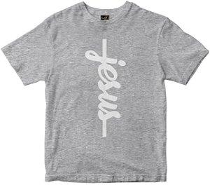 Camiseta Jesus vertical mescla Rainha do Brasil