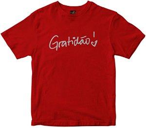 Camiseta Gratidão Feminina vermelha Rainha do Brasil