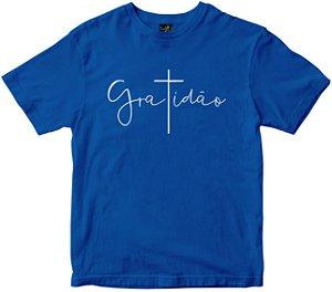 Camiseta Gratidão T em cruz azul Rainha do Brasil