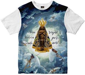 Camiseta N Senhora Aparecida anjos Rainha do Brasil