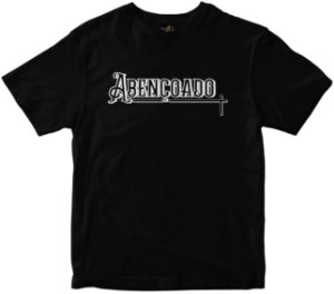 Camiseta Abençoado preta Rainha do Brasil