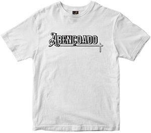 Camiseta Abençoado branca Rainha do Brasil