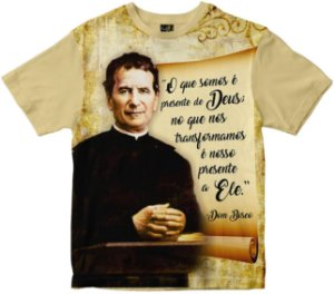 Camiseta Dom Bosco presente de Deus Rainha do Brasil
