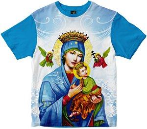 Camiseta Nossa Senhora do Perpétuo Socorro Rainha do Brasil