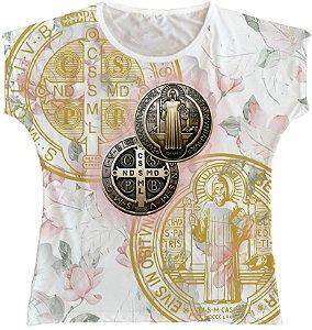 Blusa Feminina bata Medalha de São Bento Rainha do Brasil
