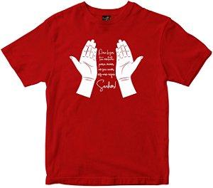 Camiseta Eis-me aqui Senhor vermelha Rainha do Brasil