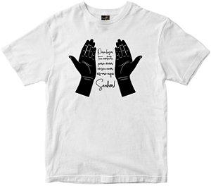 Camiseta Eis-me aqui Senhor branca Rainha do Brasil