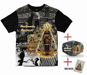 Combo - Camiseta Nossa Senhora Aparecida + Máscara Rainha do Brasil