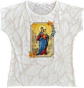 Blusa Feminina bata Nossa Senhora Auxiliadora Rainha do Brasil