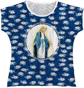Blusa Feminina bata Nossa Senhora das Graças Rainha do Brasil