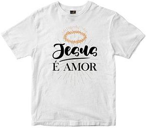 Camiseta Jesus é Amor Rainha do Brasil