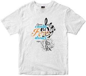 Camiseta Quem Canta Reza Rainha do Brasil