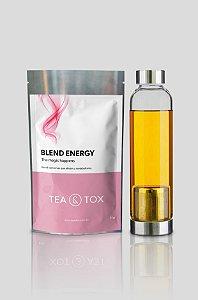 Chá Energy + Garrafa com infusor de chá