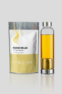 Chá Relax + Garrafa com infusor de chá