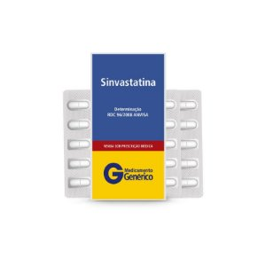 Sinvastatina 20mg da Pharlab - Caixa 30 Comprimidos