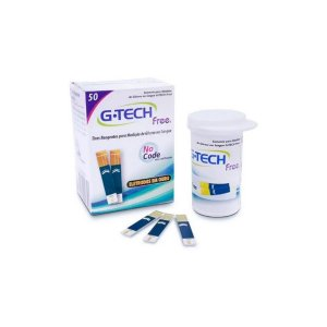 Tiras de Teste de Glicose Free c/ 50 unidades