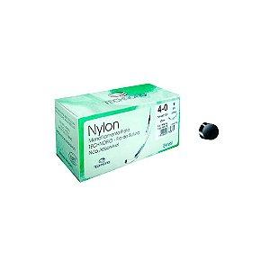 Fio de Sutura Nylon Preto 3-0 20mm