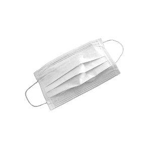 Máscara Descartável Dupla, Bompack - pacote c/ 100 unidades