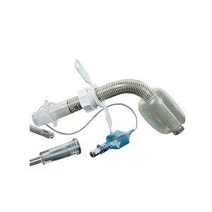 Conjunto para Traqueostomia Ajustável Aramada com Balão
