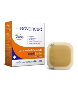 Curativo Advanced Hidrocoloide com Borda 10cmx10cm - Unidade