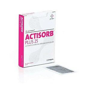 Curativo Antimicrobiano de Carvão Ativado com Prata ACTISORB Plus 25 - Unidade