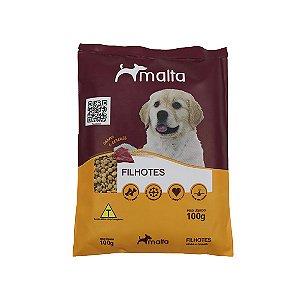Ração Malta para Cães Filhotes até 12 meses, sabor Carne, Frango e Cereais - 100g