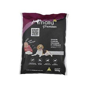 Ração Malta Premium para Cães Adultos, sabor Carne, Frango e Cereais - 100g