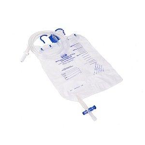 Bolsa Urina Sistema Fechado com Dispositivo Coleta - 2000ml